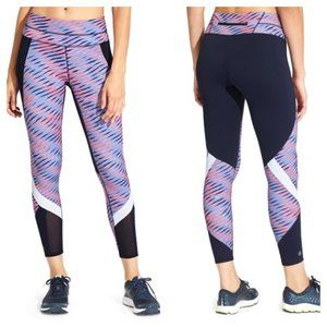 Athleta Electra Sonar 7/8 Leggings Colorblock Navy